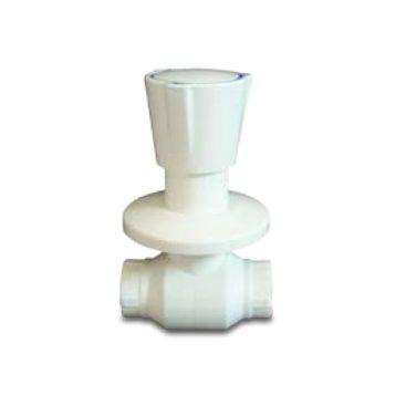 Ankastre Küresel Vana (Beyaz) Plastik Volan
