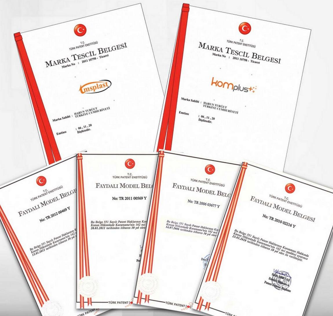 Komplus kalite belgerimiz ve sertifikalarımız